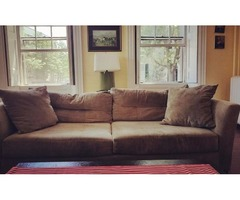 88' Sage Comfortable Sofa....New was $799.00 now only $125.00
