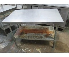 "Stainless Steel Worktable 30""x48"""
