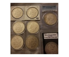 Morgan Silver dollars, Silver Eagles, Peace Dollars and Franklin