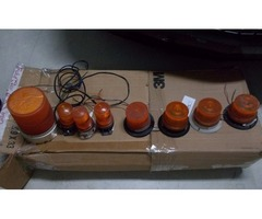 8 PIECES STROBE AMBER LIGHTS