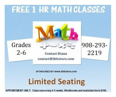FREE 1 hr Math Tutoring (Grades 2-6 Tutoring)