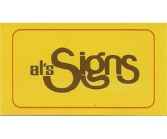 "Al-Signs ""One Call Does It All"""