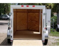 Enclosed Trailer 5 x 10 ft. with Vnose and RV Side Door for sale