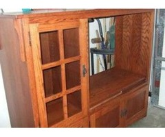 Beautiful wood grain entertainment center