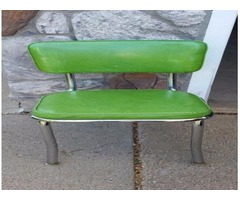 Chairs (6),all purpose retro chrome green upholstered