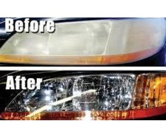 Headlight Restore and Renew with free Coating
