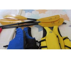 Kayak Paddles and Life Jackets