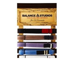 Custom Martial Arts Belt Rack Display