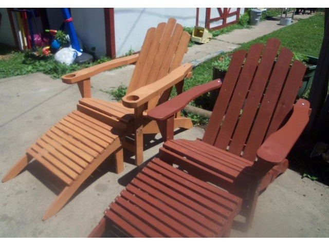 Adirondack Chairs W/ Footrest