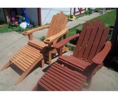 Adirondack chairs w/ footrest