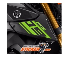 2017 Yamaha FZ-09 side cover air scoop sticker