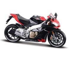 Authentic Black Aprilia RSV4 Motorcycle Bike
