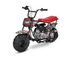 Authentic Monster Moto American Flag Mini Bike, Red
