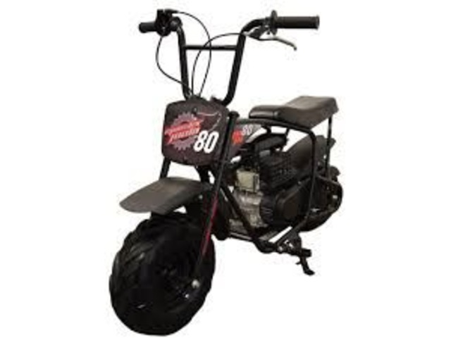 Authentic 79.5cc Youth Mini Bike in Black | free-classifieds-usa.com