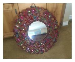 Decorative circular mirror