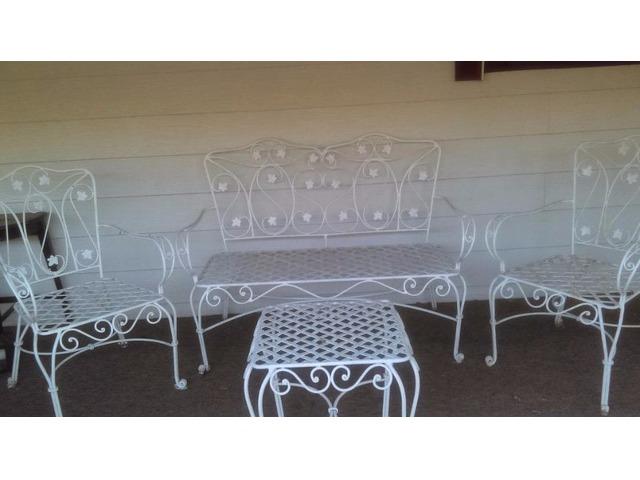 Vintage 1950 Iron Patio Furniture Set Home Furniture Garden Supplies Salt Lake City Utah