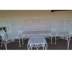 vintage 1950 iron patio furniture set