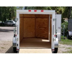 Enclosed Trailer for sale 5 ft by10 ft White trailer NEW
