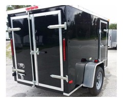 Enclosed Trailer for sale! NEW Bar Lock Side Door BLACK 5 foot by 8 foot