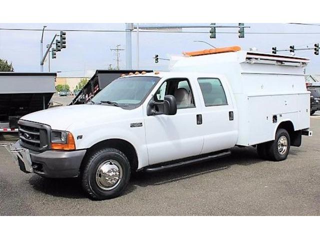 Truck Utility Box >> 1999 Ford F350 Enclosed Service Utility Box Truck Trucks