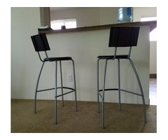 2 Pcs Bar Stool with Backrest from Ikea