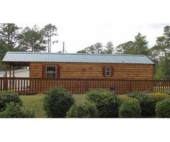 Rustic Spruce Split Log Cabin