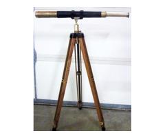 TELESCOPE on TRIPOD - Nautical - Mid-1900's QM 20X