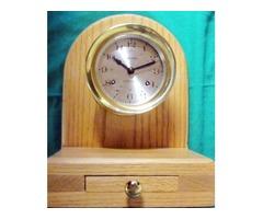 CLOCK & STAND - Nautical - Mid-1990's Brass Key-Wind 5 Inch