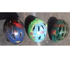HELMETS. KNEE AND ELBOW PADS