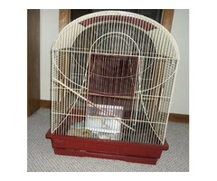 Large bird cage and equiptment