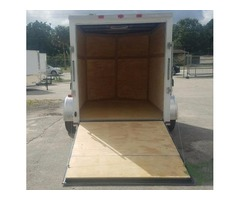 "6x8 Enclosed Trailer/ White/ 6ft 3"" Interior"