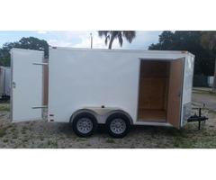 6x12TA/Double Doors/White/Side door