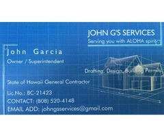 JOHN G'S SERVICES - Drafting, remodel & repair, new construction