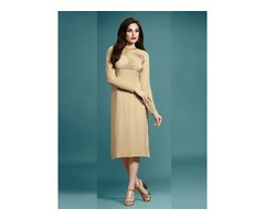 Beige Kurti for Women - 150+ Styles