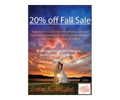 20% off on Affordable wedding planner/coordinator in your area