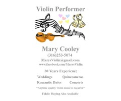 Violin player for hire!