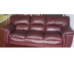 Full Leather Couch Sofa for Moving Sale $300
