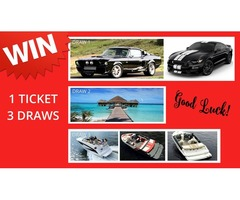 Enter Our Amazing Competition Today. One Price, One Ticket, Three Competitions.