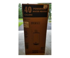 New 40 gallon water heater in the box