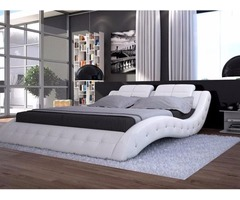 Charisma Modern Platform bed with crystal accent
