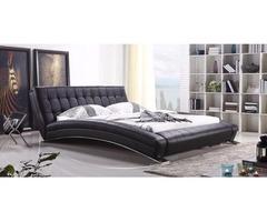 Contemporary Platform Bed in Black color