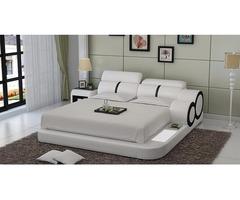 Modern Platform Bed with LED side lighting