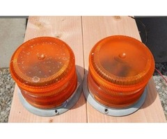 Two ECCO amber strobe lights