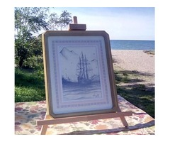 Tall Ship sketch by Ken Barton