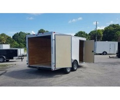 7 x 14 Enclosed Trailers with Extra Height