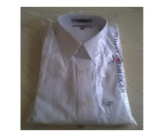 MEN'S TOMMY HILFIGER WHITE DRESS SHIRT-NEW