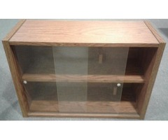 CD/DVD STORAGE CABINET WITH SLIDING DOORS
