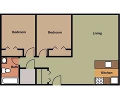 2 Bedroom Corner Unit on the 1st floor