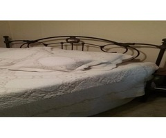 Metal headboard/footboard-Queen with mattresses and foam topper