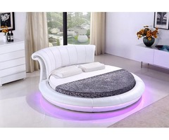Margarita Round Bed with LED - Contemporary Style